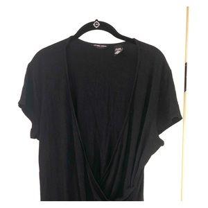 Sexy Black crossbody blouse
